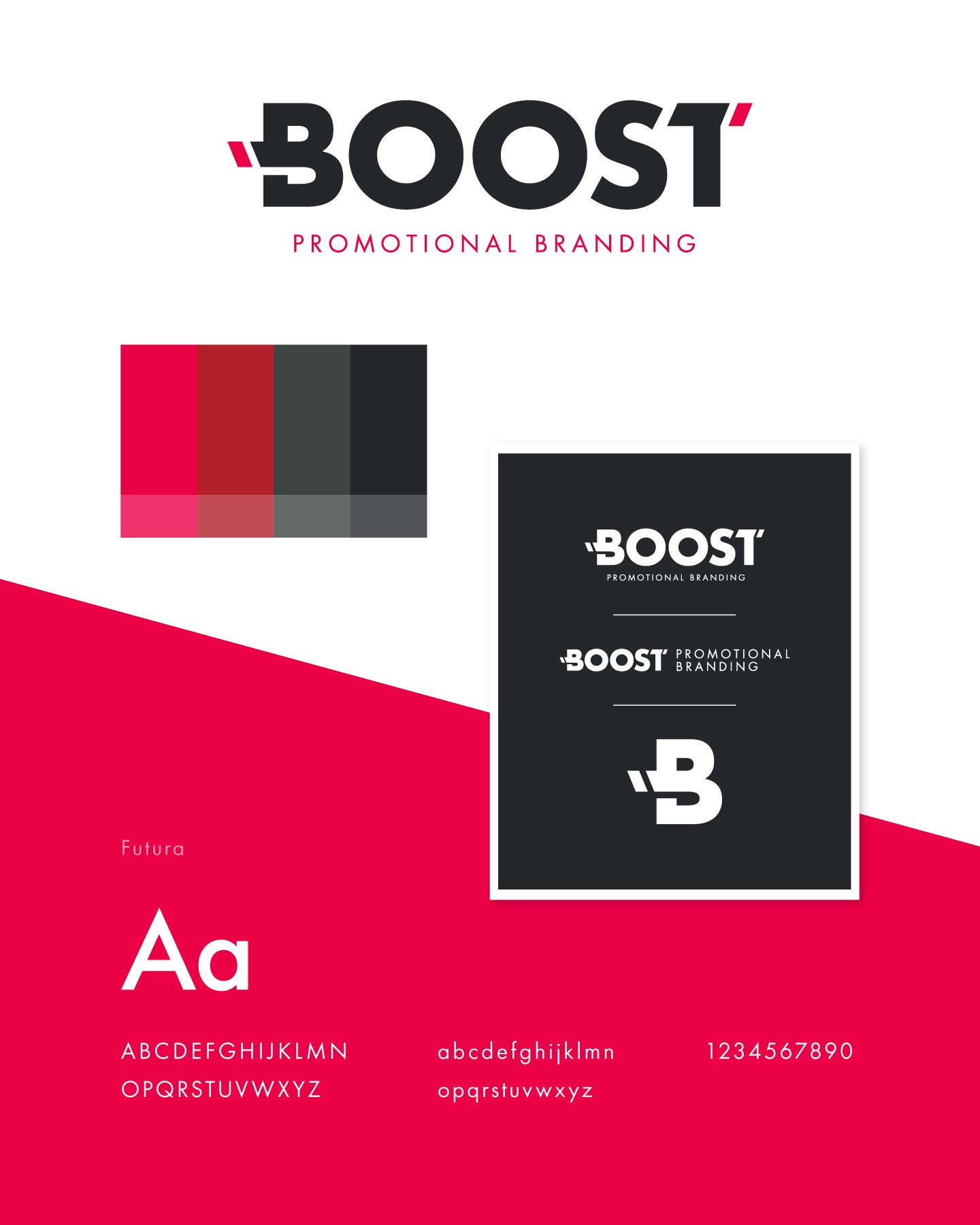 Logo, colors, and fonts for Boost Promotional Branding