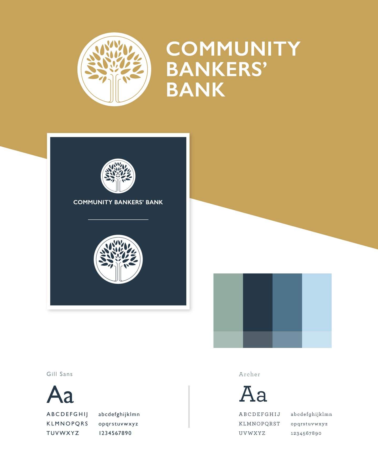 Logo, colors, and fonts for Community Bankers' Bank