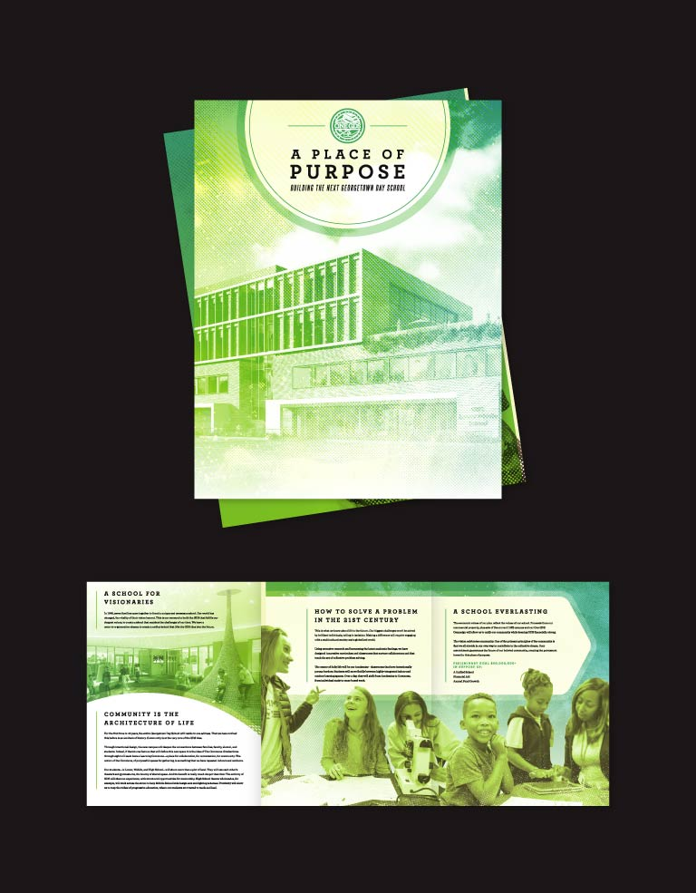 Georgetown Day School brochure cover and spread