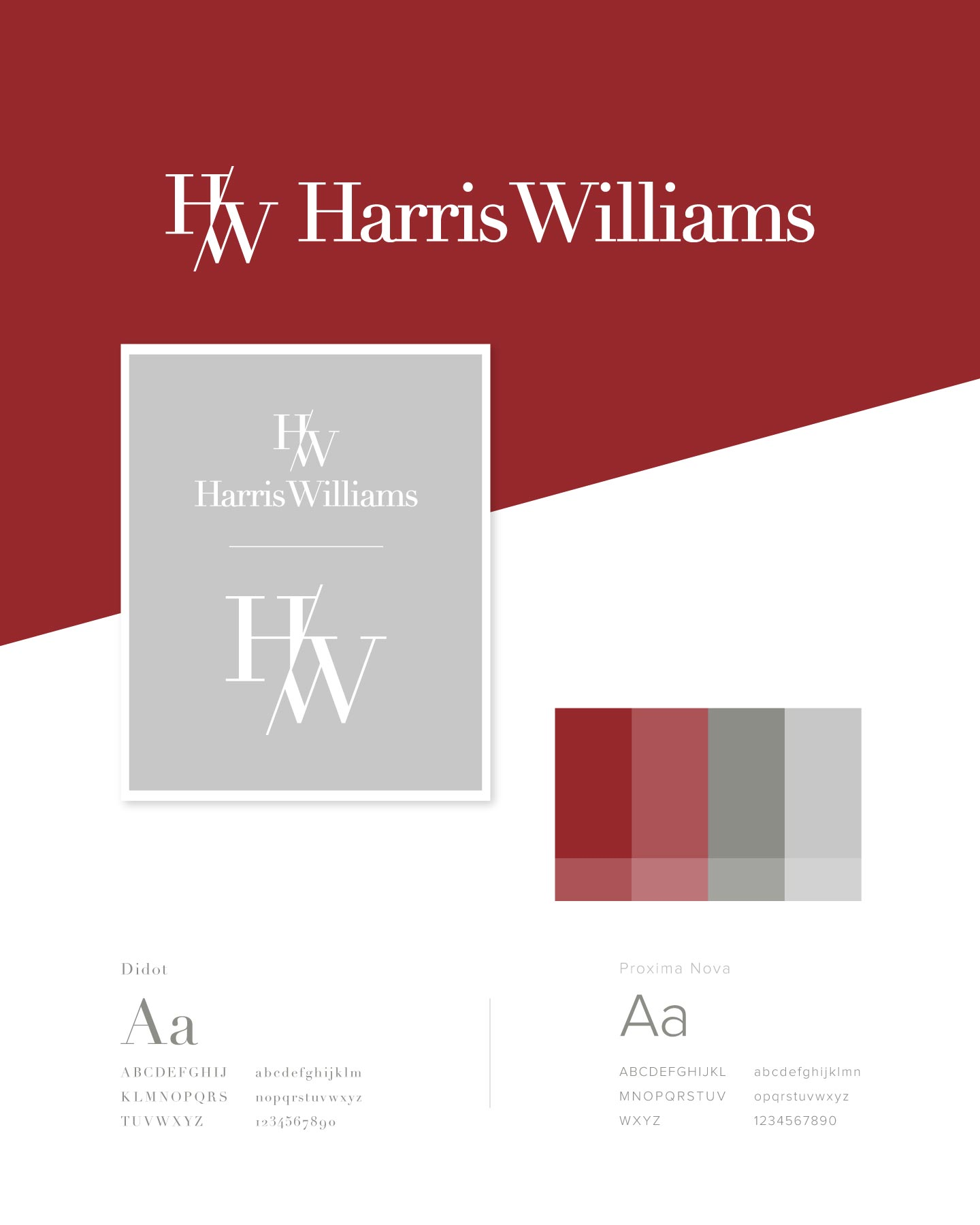 Logo, colors, and fonts for Harris Williams