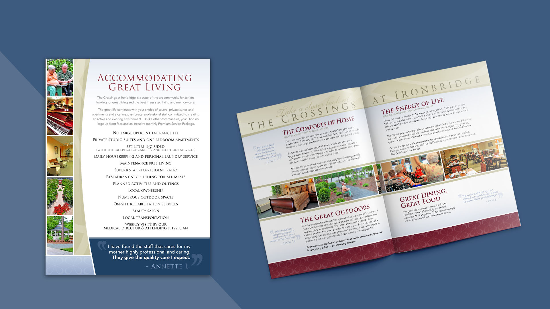 brochure for the Crossings at Ironbridge