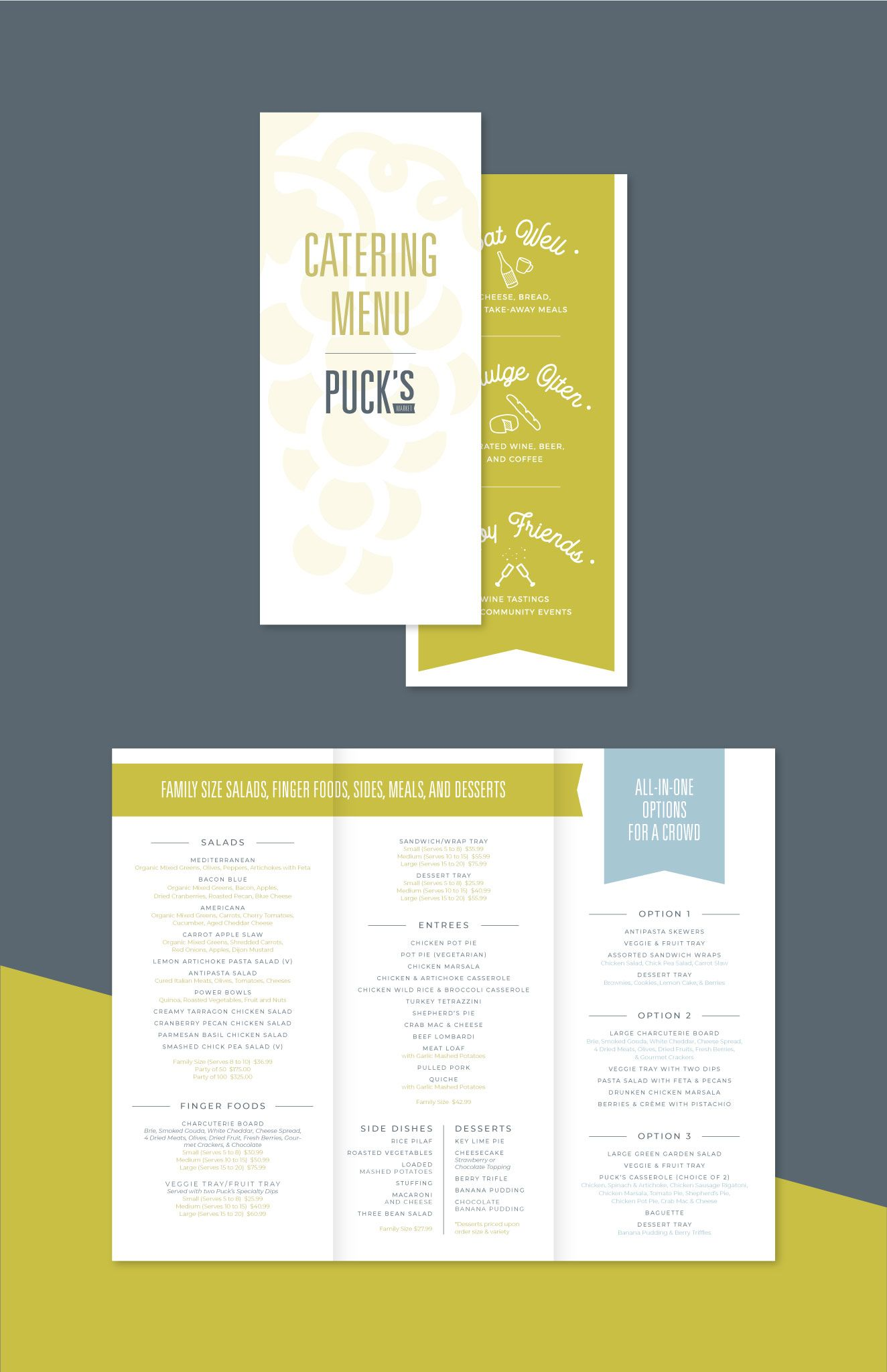 Puck's Market catering menu