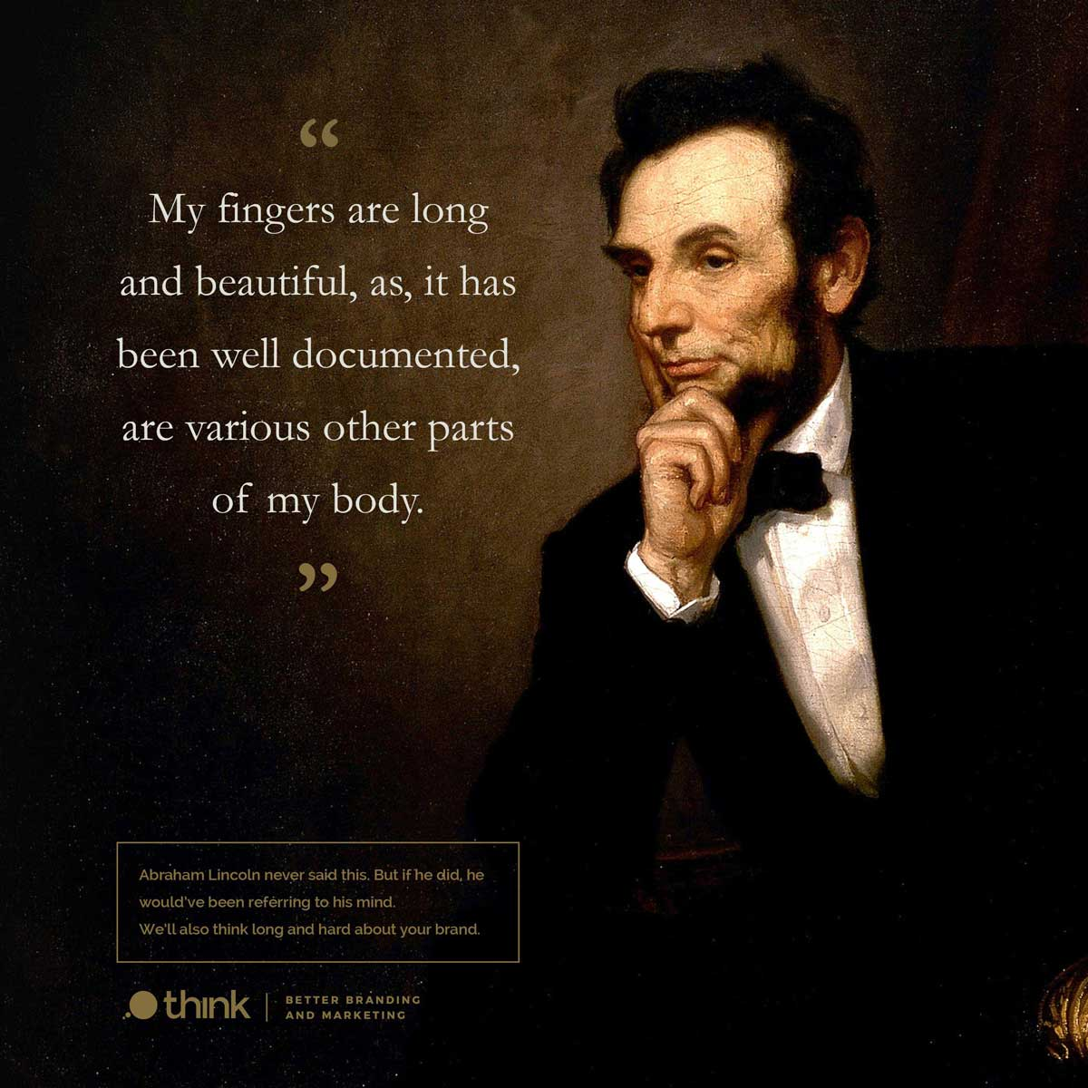 photo of Abraham Lincoln with a Donald Trump quote