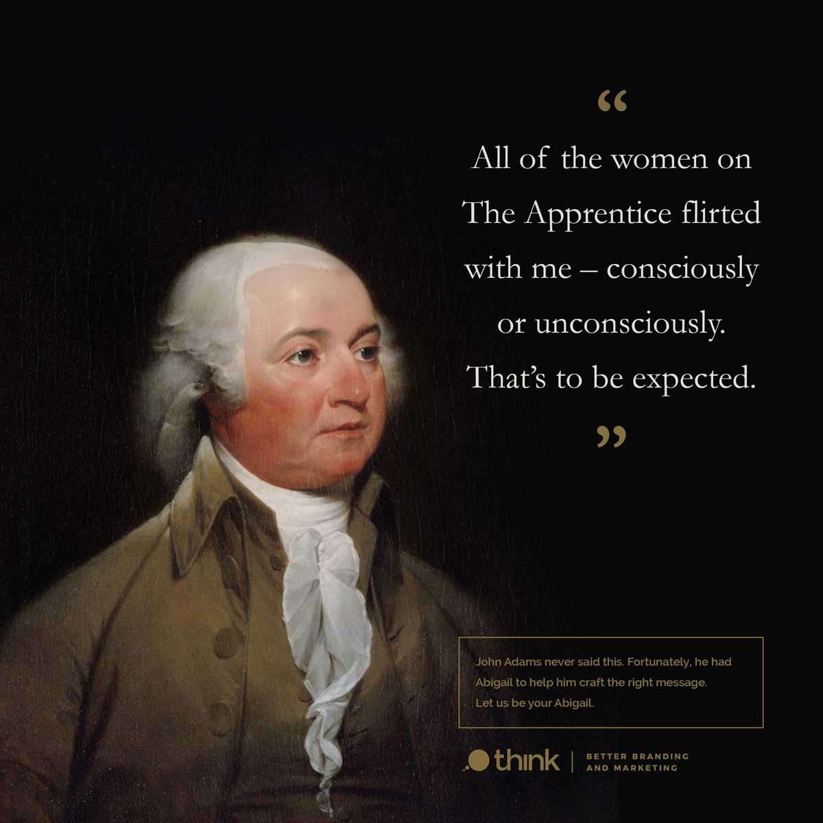 photo of John Adams with a Donald Trump quote