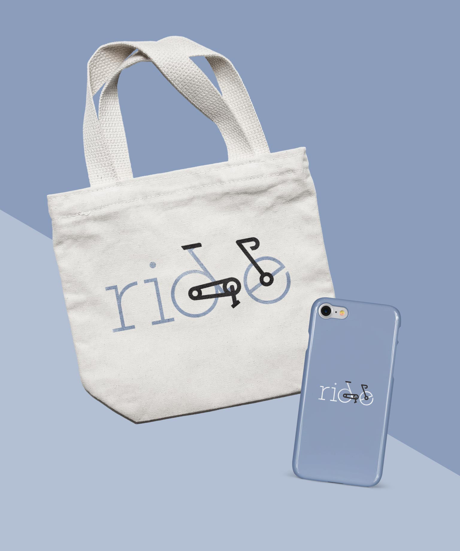 tote bag and cell phone case with ride design