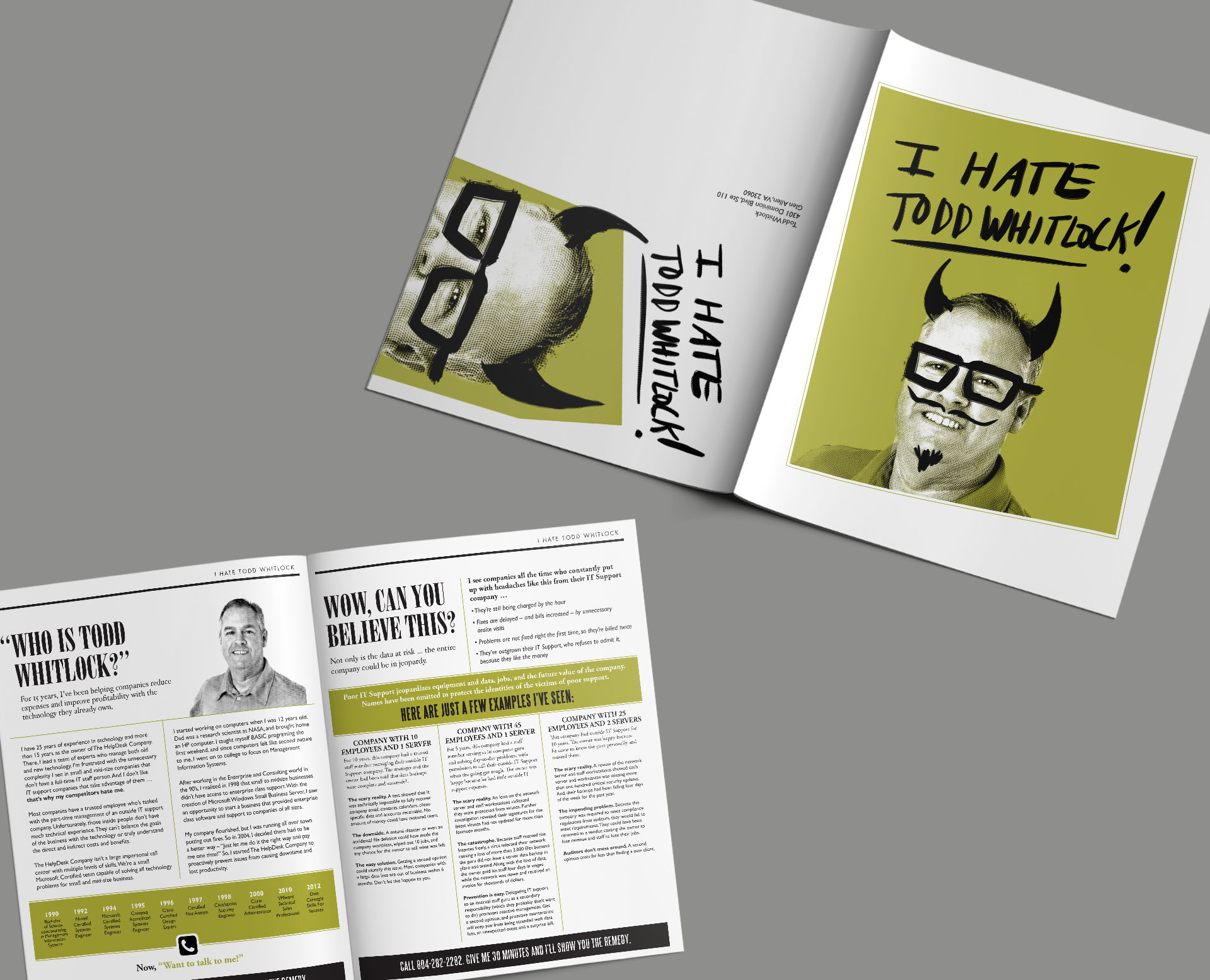 brochure for Todd Whitlock The Help Desk Company