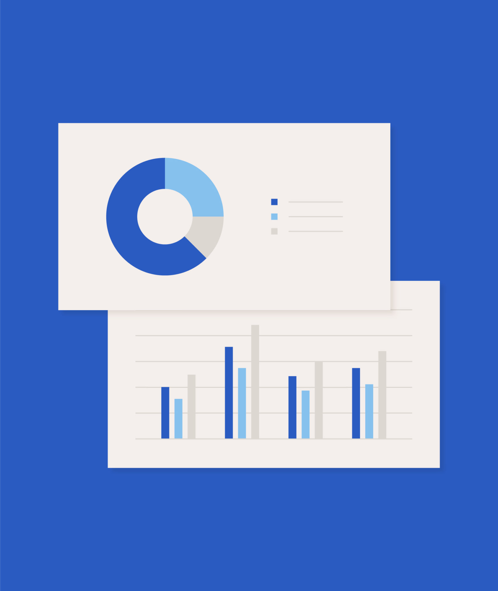 icon of pie chart and bar graphs
