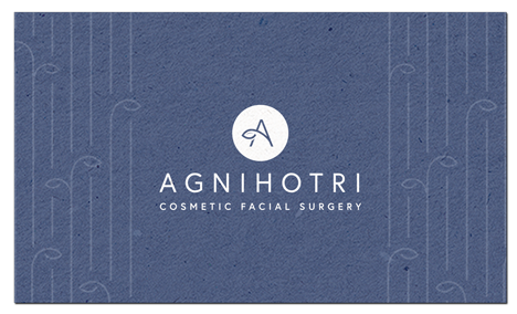 back view of Agnihotri Cosmetic Surgery business card