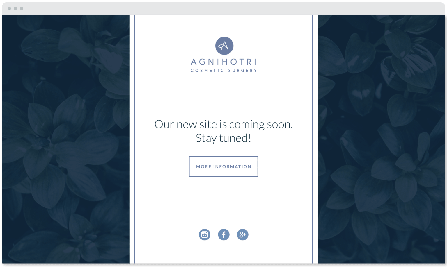 Agnihotri Cosmetic Surgery website landing page