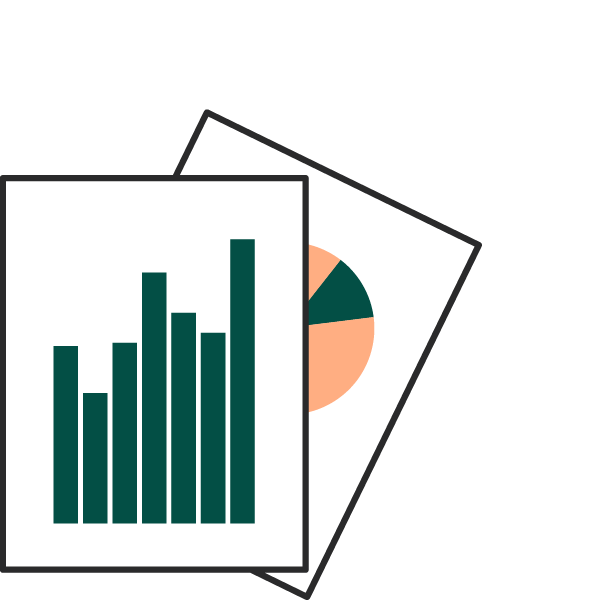 icon of two spreadsheets