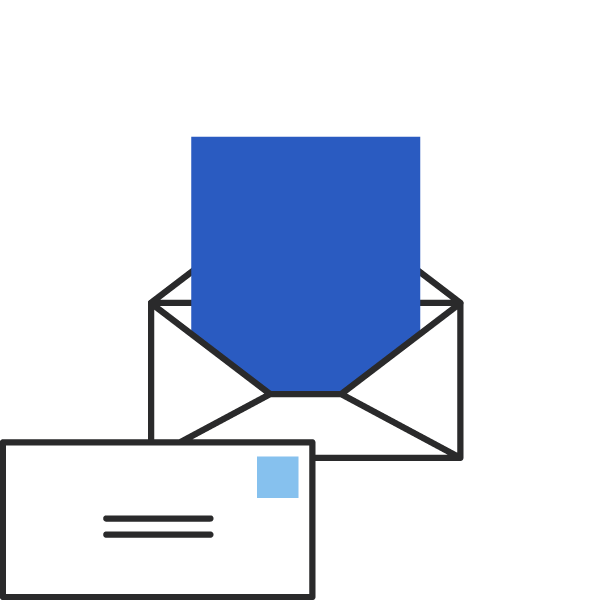 icon of a letter in an envelope