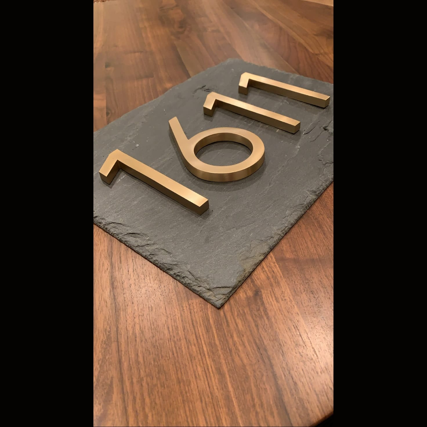 Slate home number plaque