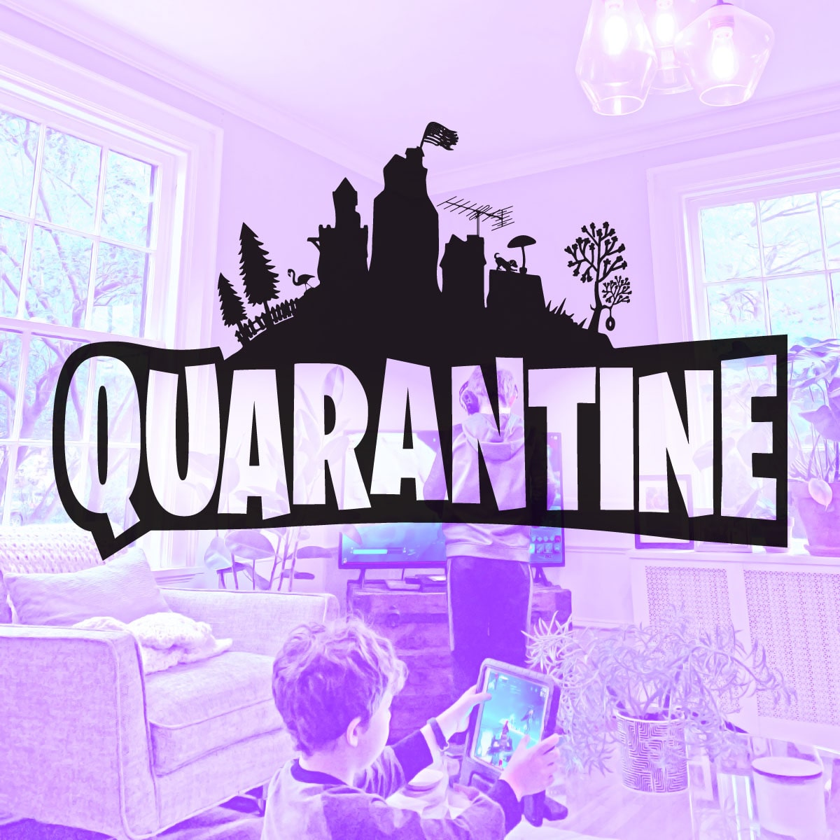 Fortnite inspired quarentine logo