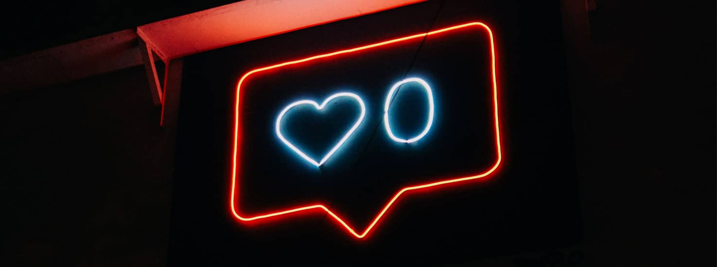 Neon sign of the Instagram like icon