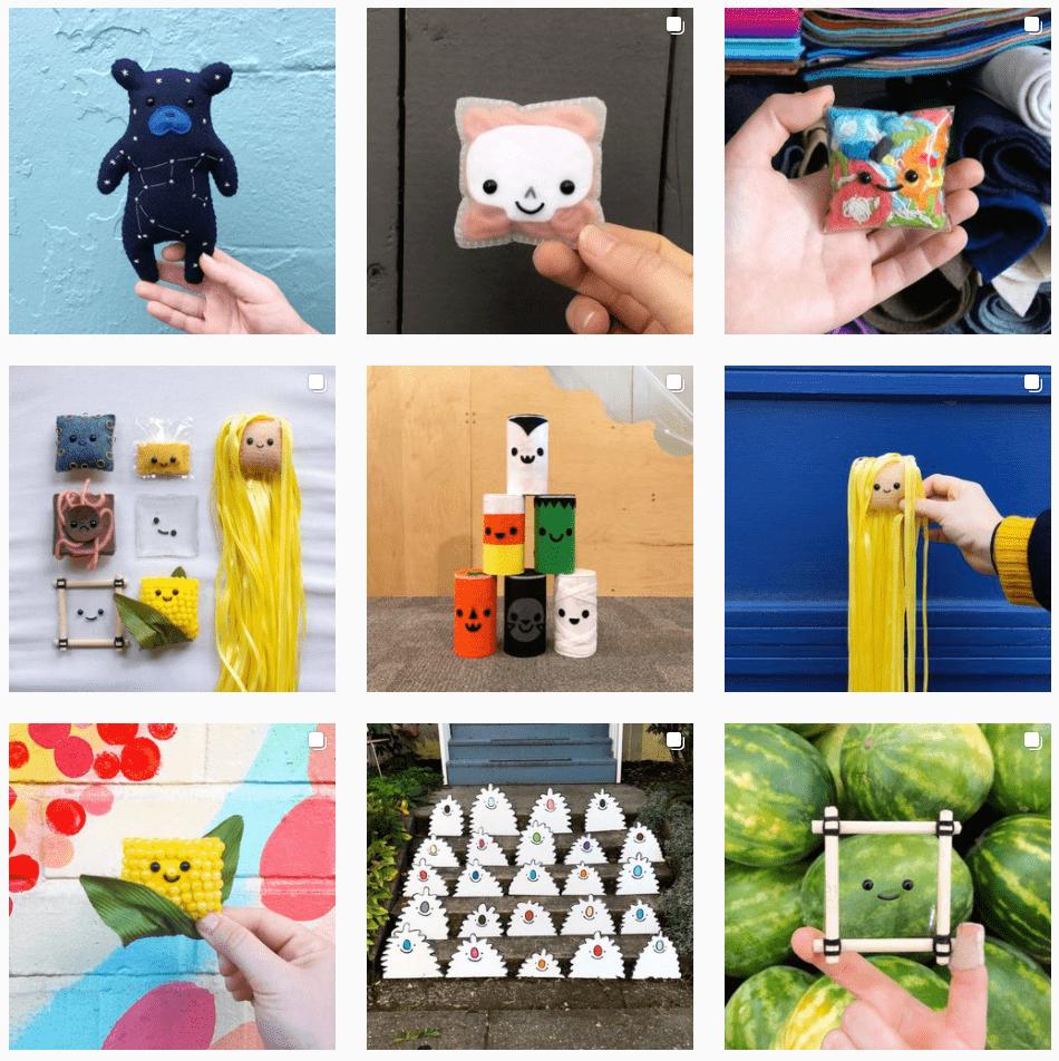 Booky Margoof Instagram Grid
