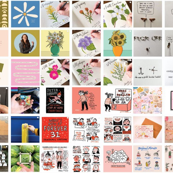 Colorful Instagram Grids